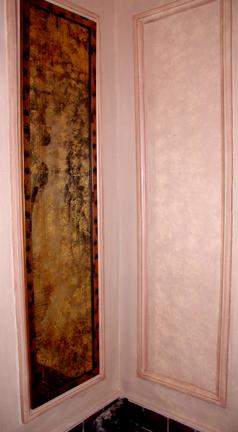 Antique Japanese scroll, 24kt gold leaf #1. sold