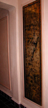 Antique Japanese scroll, 24kt gold leaf #2. sold