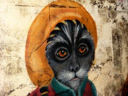 Close up Monkey in the Garden, SOLD