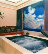 Maxfied Parrish Courtyard Spa mural view one