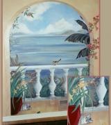 Seascape Balcony Wall Mural