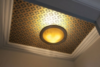 Hand Cut Gold Paper Blue Painted Ceiling